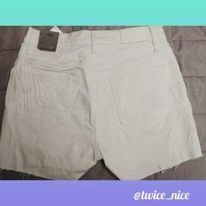 Calvin Klein Cut Off Shorts White NWT